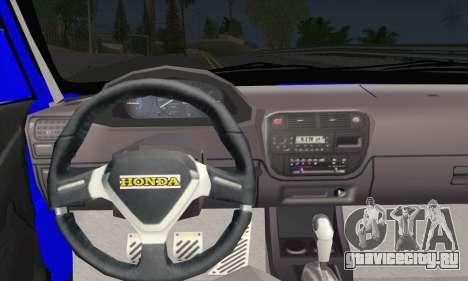 Honda Civic 34 TS 9640 INDIGO для GTA San Andreas вид сзади слева