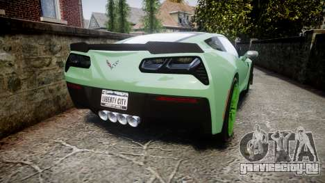 Chevrolet Corvette Z06 2015 TireCon для GTA 4 вид сзади слева