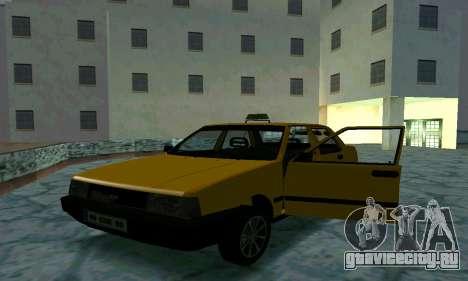 Tofas Sahin Taxi для GTA San Andreas вид снизу
