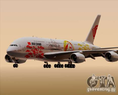 Airbus A380-800 Air China для GTA San Andreas вид снизу