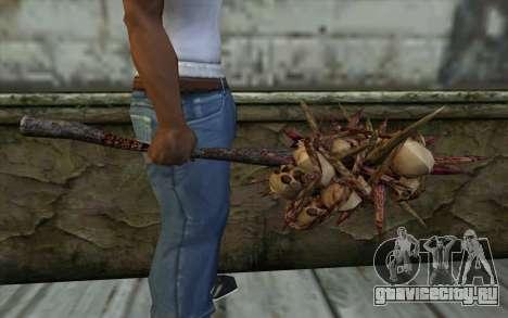 Spyked Zombie Skull Bat From Resident Evil 5 для GTA San Andreas третий скриншот