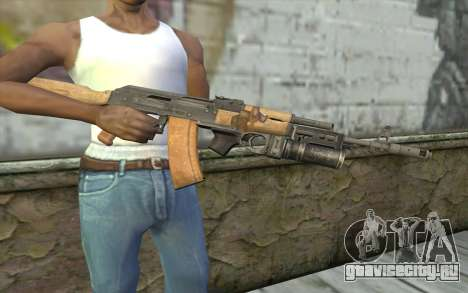 AK-74 С Подствольником для GTA San Andreas третий скриншот
