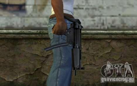Retextured MP5 для GTA San Andreas третий скриншот