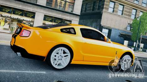 Ford Shelby Mustang GT500 2011 v1.0 для GTA 4 вид сзади слева