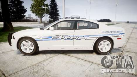Dodge Charger RT [ELS] Liberty County Sheriff для GTA 4 вид слева