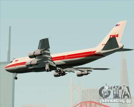 Boeing 747-100 Trans World Airlines (TWA) для GTA San Andreas вид сбоку
