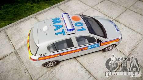 Vauxhall Astra 2010 Metropolitan Police [ELS] для GTA 4 вид справа