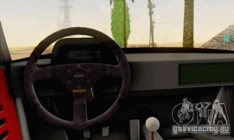 Ferrari F40 Competizione Black Revel для GTA San Andreas вид сзади