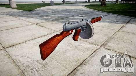 Пистолет-пулемёт Thompson M1A1 drum icon1 для GTA 4 второй скриншот
