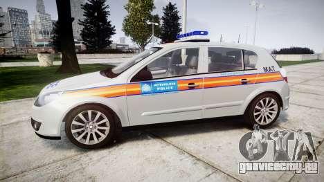 Vauxhall Astra 2010 Metropolitan Police [ELS] для GTA 4 вид слева