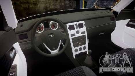 ВАЗ-2170 Lada Priora Vossen для GTA 4 вид изнутри