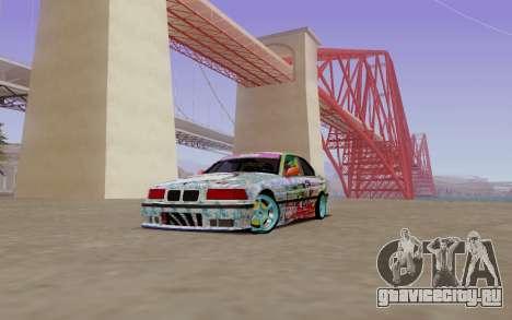 BMW E36 Bridgstone для GTA San Andreas вид слева