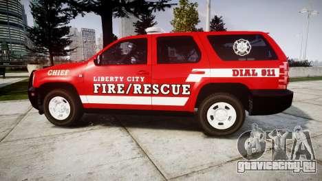 Chevrolet Tahoe Fire Chief [ELS] для GTA 4 вид слева