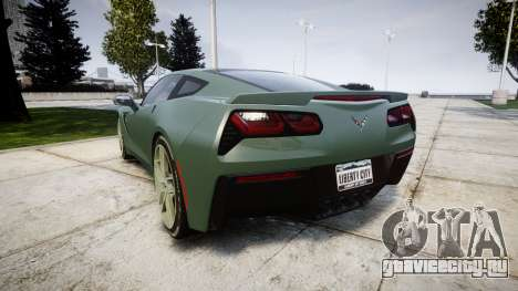 Chevrolet Corvette C7 Stingray 2014 v2.0 TirePi2 для GTA 4 вид сзади слева