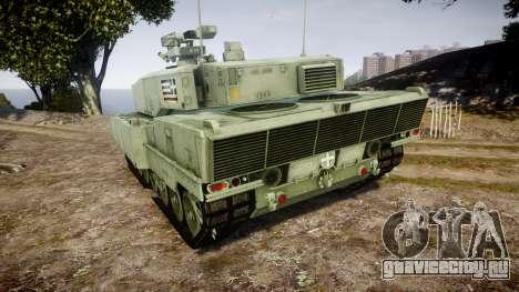 Leopard 2A7 GR Green для GTA 4 вид сзади слева