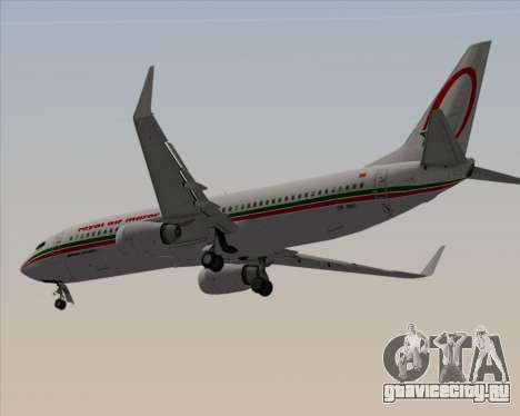 Boeing 737-8B6 Royal Air Maroc (RAM) для GTA San Andreas вид сзади