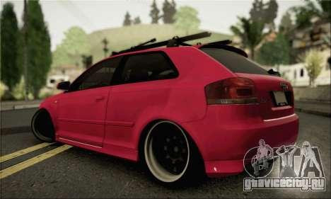 Audi S3 для GTA San Andreas вид слева