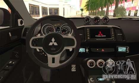 Mitsubishi Lancer Evo X для GTA San Andreas вид сзади слева
