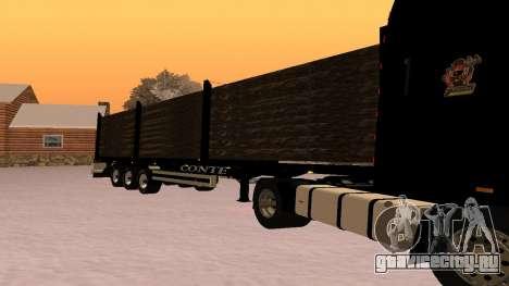 CONTE Лесовоз для GTA San Andreas вид слева