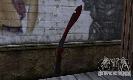 Bloody Machete from Far Cry для GTA San Andreas второй скриншот