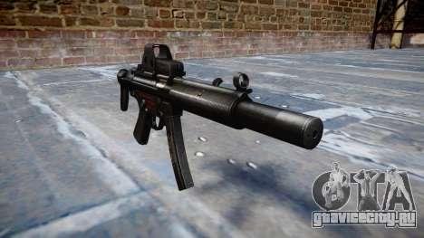 Пистолет-пулемёт MP5SD EOTHS CS b target для GTA 4