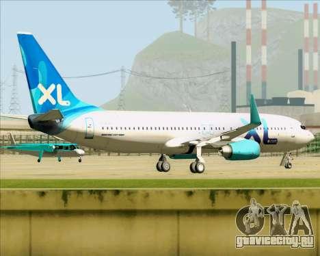 Boeing 737-800 XL Airways для GTA San Andreas вид справа