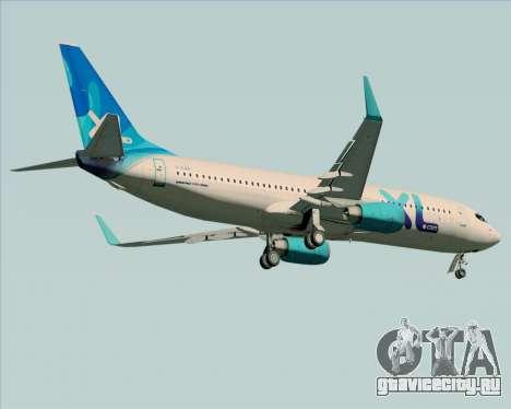 Boeing 737-800 XL Airways для GTA San Andreas вид сзади