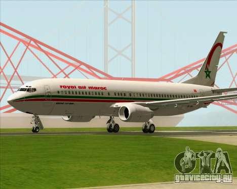 Boeing 737-8B6 Royal Air Maroc (RAM) для GTA San Andreas вид справа