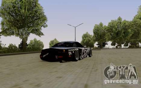 Mazda RX-7 Fail Crew для GTA San Andreas вид сзади слева