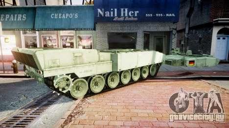 Leopard 2A7 DE Green для GTA 4 вид сзади