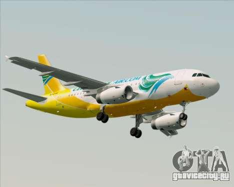 Airbus A319-100 Cebu Pacific Air для GTA San Andreas вид слева