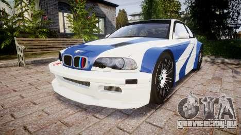 BMW M3 E46 GTR Most Wanted plate NFS Carbon для GTA 4