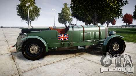 Bentley Blower 4.5 Litre Supercharged [low] для GTA 4 вид слева