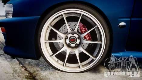 Subaru Impreza 22B Street для GTA 4 вид сзади