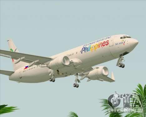Boeing 737-800 South East Asian Airlines (SEAIR) для GTA San Andreas вид справа