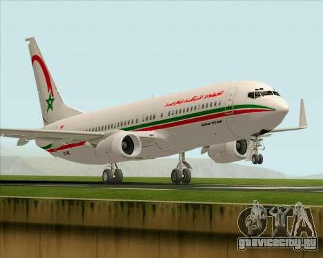 Boeing 737-8B6 Royal Air Maroc (RAM) для GTA San Andreas вид снизу