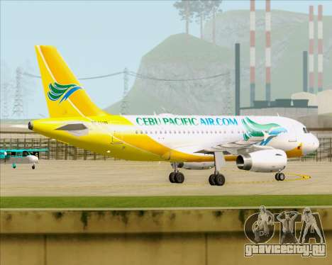 Airbus A319-100 Cebu Pacific Air для GTA San Andreas вид изнутри