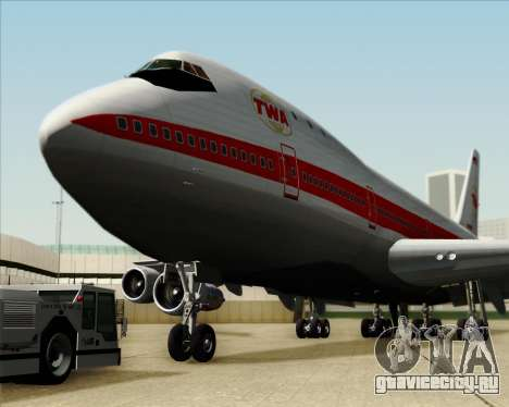 Boeing 747-100 Trans World Airlines (TWA) для GTA San Andreas вид снизу