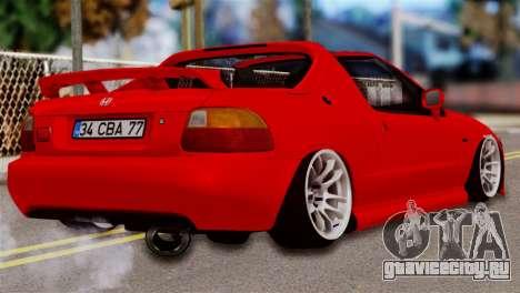 Honda CRX для GTA San Andreas вид слева