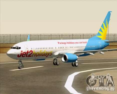 Boeing 737-800 Jet2Holidays для GTA San Andreas колёса