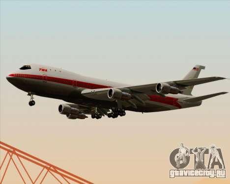 Boeing 747-100 Trans World Airlines (TWA) для GTA San Andreas вид изнутри