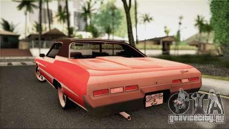 Chevrolet Impala Lowrider для GTA San Andreas вид слева