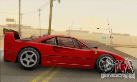 Ferrari F40 Competizione Black Revel для GTA San Andreas вид слева
