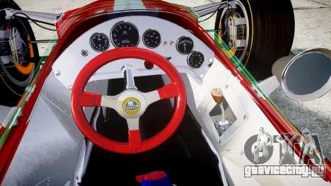 Lotus 49 1967 red для GTA 4 вид сзади