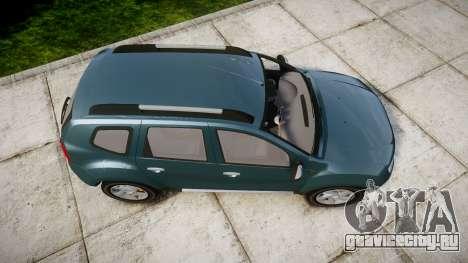 Dacia Duster 2013 для GTA 4 вид справа