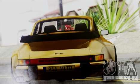 Porche 911 Turbo 1982 для GTA San Andreas вид сзади слева