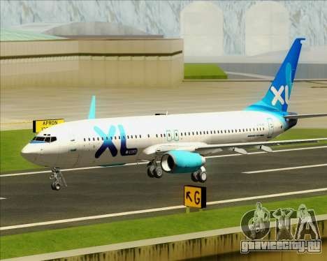 Boeing 737-800 XL Airways для GTA San Andreas вид сверху