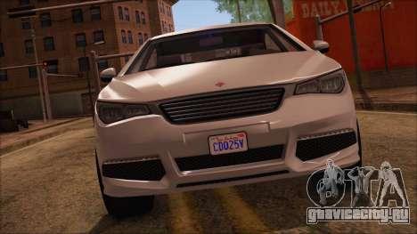 GTA 5 Ubermacht Sport для GTA San Andreas вид сзади слева
