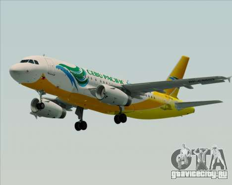 Airbus A319-100 Cebu Pacific Air для GTA San Andreas вид справа
