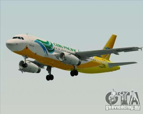 Airbus A319-100 Cebu Pacific Air для GTA San Andreas вид справа